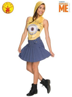 Minion Hoodie Dress #810782