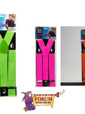 Forum Novelties Neon Suspenders
