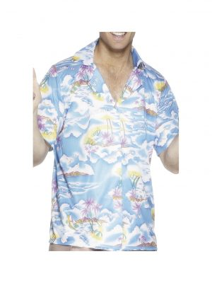 Blue Hawaiian Smiffys Shirt - 25259