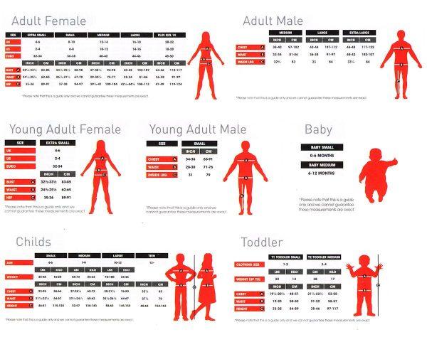 Smiffys Adults Size Chart Guide