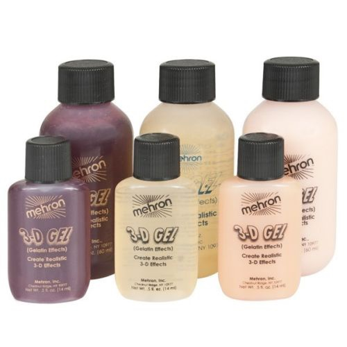 3-D Gel Mehron - All Sizes and Colours