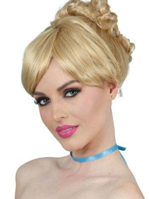 Cinderella Inspired Blonde Bun Costume Wig