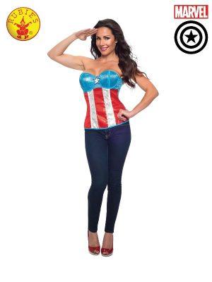 Captain America Sequin Corset #820040