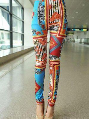 Retro Leggings Travel Crazy Leggings
