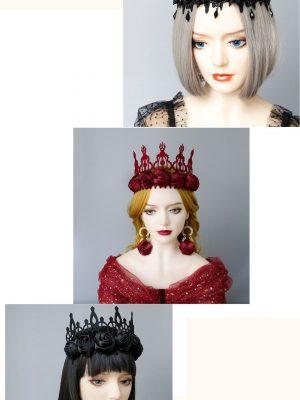 Headband Queen Victorian Gothic Rose Queen Tiara Piece Festival Wear