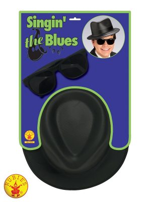 Blues Brother Hat & Glasses Set - 568 Rubies