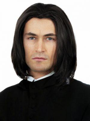 Dark Professor (Severus Snape) Black Mens Boys Costume Wig - by Alluara 9300 (2)