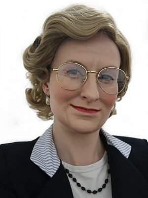 Mrs Housekeeper Old Lady Costume Wig (Mrs Doubtfire Style) - by Allaura (3)
